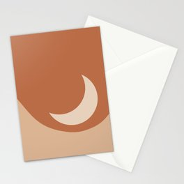 Moonrise Minimalism - Orange Stationery Cards