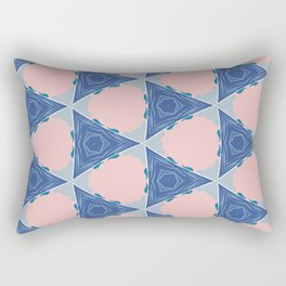 Barrett pink circle and blue triangle geo pattern Rectangular Pillow