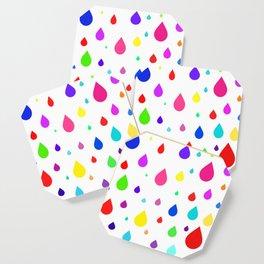 colorful raindrops Coaster