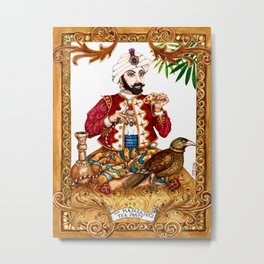 The Maharajah's Tea Party Metal Print