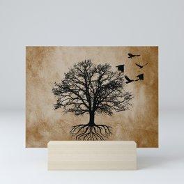 Tree of Life - Crow Tree Modern Farmhouse Decor A823 Mini Art Print