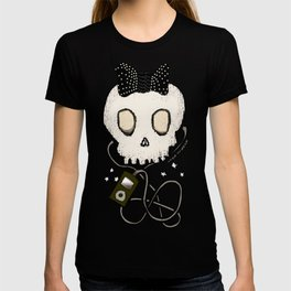 Girly Skull with Black Bow / Die for Music T-shirt