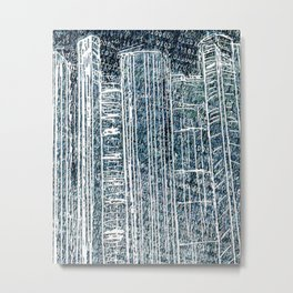binary city Metal Print