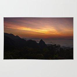 Dawn on my favorite mountain Rug