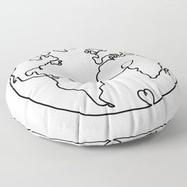 The World in Love Floor Pillow