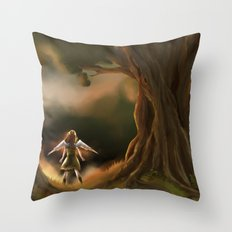 Under the Great Old Tree Throw Pillow