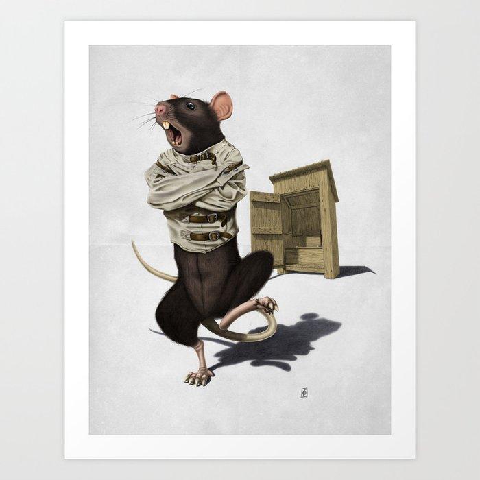 Shithouse (Wordless) Art Print
