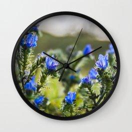 Blue flowers Wall Clock
