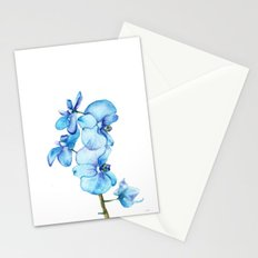 Blue Orchids Two - Watercolor Stationery Cards