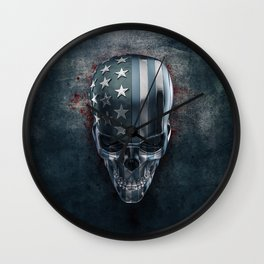 American Horror in Metal Wall Clock