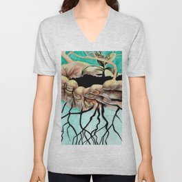 Root Hands Unisex V-Neck