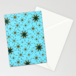 Winter Wonderland in Mustard, Teal, and Blue Stationery Cards