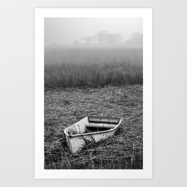 Abandoned Marsh Boat Art Print