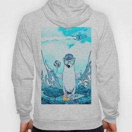 Polar bear on the surf board Hoody