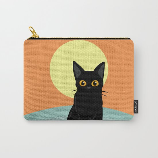 Sunset and cat Carry-All Pouch