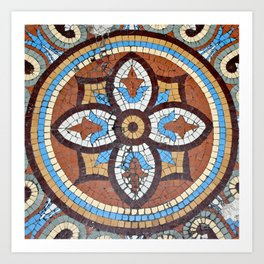 Mosaic Tile at the Chicago Athletic Club Art Print