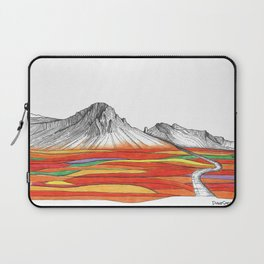 Mountain Landscape Contemporary Art, Mountain drawing, Modern Art, nature , Abstract Art, Mountains Laptop Sleeve