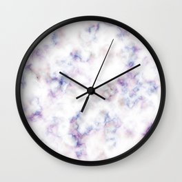The pattern of blue marble with a red tint Wall Clock