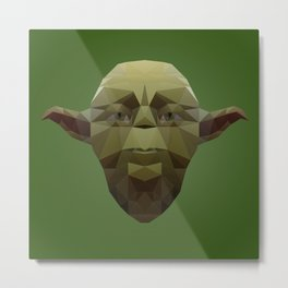 Yoda Low Poly Metal Print
