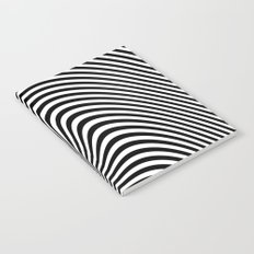 Black and White Pop Art optical illusion Notebook