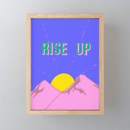 Rise Up Framed Mini Art Print