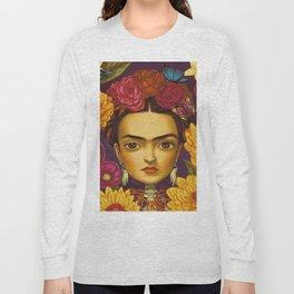 Frida Flowers Long Sleeve T-shirt