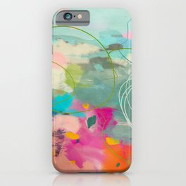 mixed abstract brush color study art 1 iPhone Case