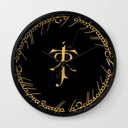 One Ring To Rule Them Wall Clock