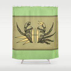 grab my crab Shower Curtain