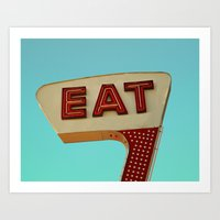eat Art Prints featuring Eat by bomobob