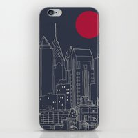 blueprint iPhone & iPod Skins featuring Philly Blueprint by ralexandertrejo