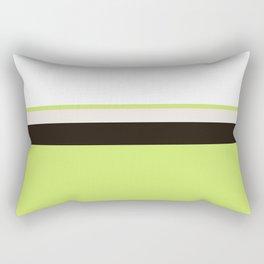 Modern Lime Green Color Block Gray Stripes White Rectangular Pillow