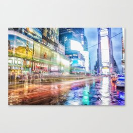 Abstract Times Square Canvas Print