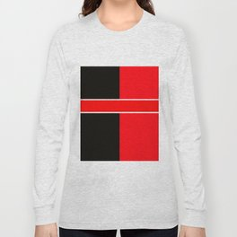 Team Colors 6...red,black,white Long Sleeve T-shirt
