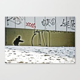 Prague Graffiti # 8 Canvas Print