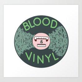 Blood & Vinyl Logo Art Print
