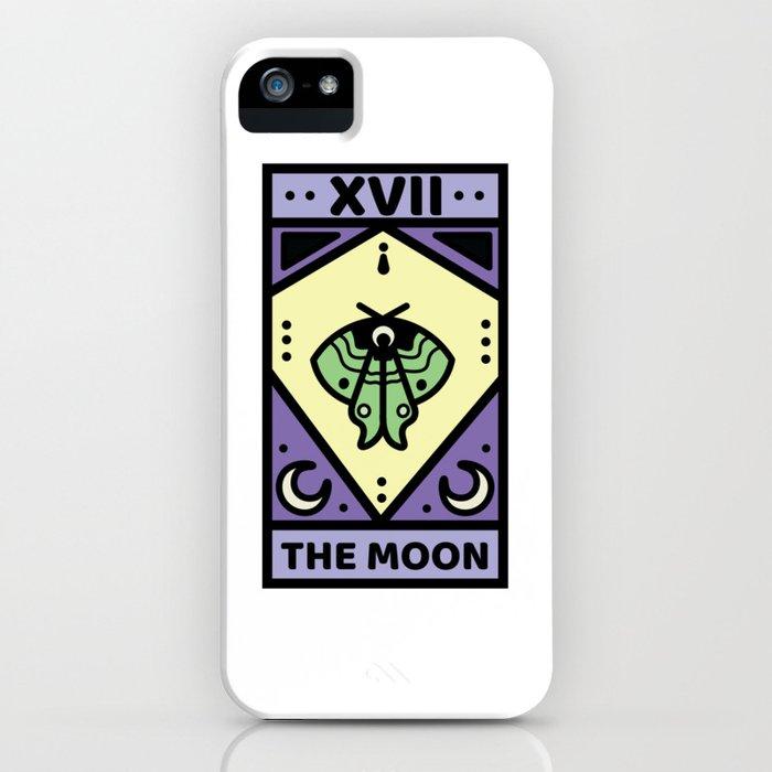 The Moon Pastel Tarot Card iPhone Case