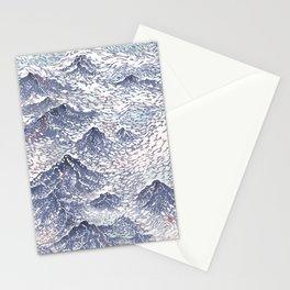 Distant View - 遠望 series -Linocut Stationery Cards