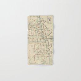Vintage Map of Utica New York (1883) Hand & Bath Towel