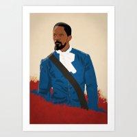django Art Prints featuring Django by Anton Lundin