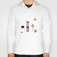 pirate Hoodies featuring Pirate by MyimagesArt