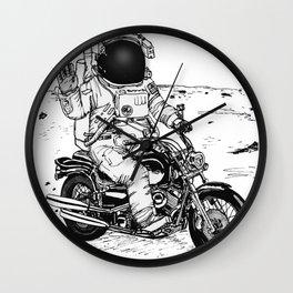 Moon Biker Wall Clock