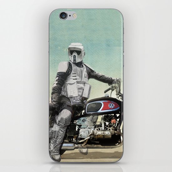 Looking for the drones, Scout Trooper Motorbike iPhone & iPod Skin