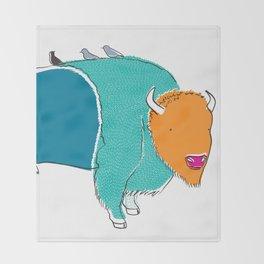Bristol Bison Throw Blanket
