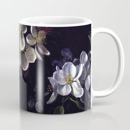 Sketch Of Apple Blossoms With May Flowers 1873 By David Johnson | Reproduction | Romanticism Landsca Coffee Mug