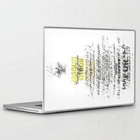 vodka Laptop & iPad Skins featuring Graphic Vodka  by MarianaLage