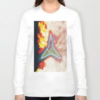 big bang Long Sleeve T-shirts featuring Big Bang by Helle Gade