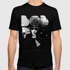 Bob Dylan Font Sunglasses Black MEDIUM Mens Fitted Tee