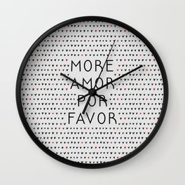 More Amor Black & Red Wall Clock