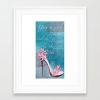 shoe Framed Art Prints featuring Shoe by HSDesign